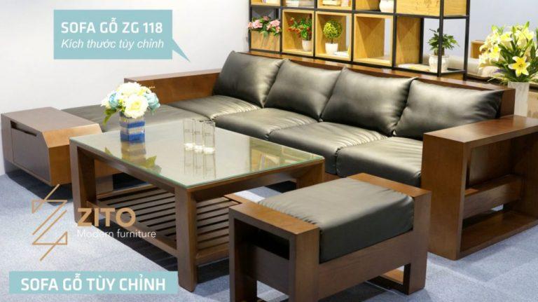 bàn ghế gỗ văng