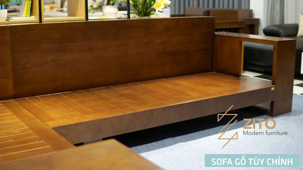 chi tiết Sofa bed gỗ phòng khách ZG104