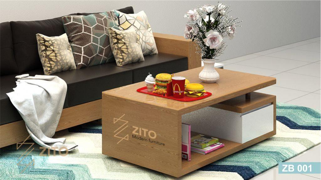 Bàn trà gỗ phòng khách ZB001 tại hà nội