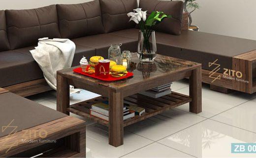 mẫu bàn trà gỗ hiện đại