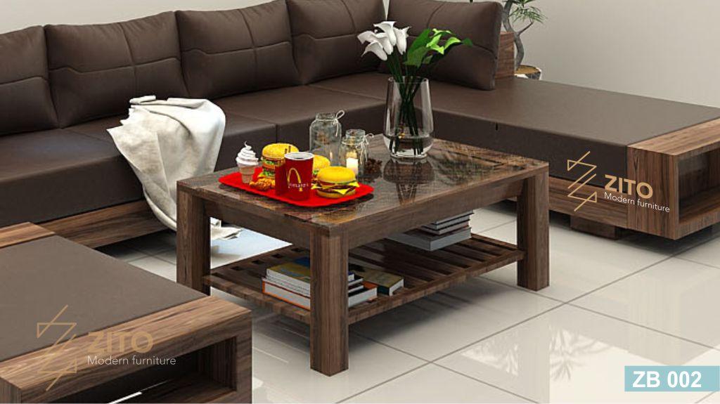 bàn trà gỗ sồi