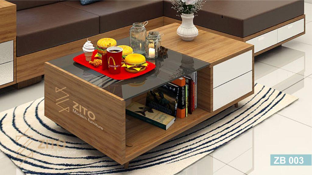 bàn trà phòng khách cao cấp nhỏ