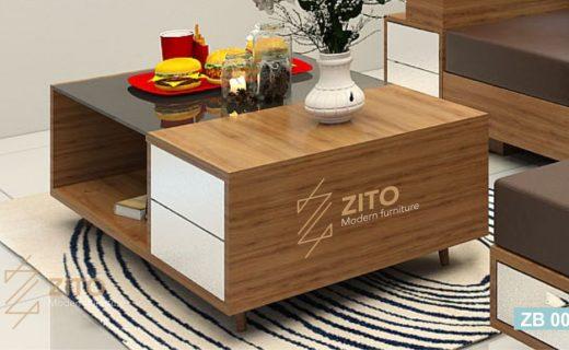 bàn trà gỗ phòng khách nhỏ tại hà nội
