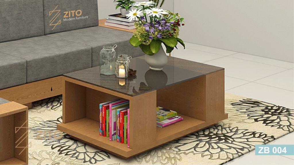 bàn trà gỗ sồi nga phòng khách tại ZITO