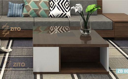 bàn trà gỗ vuông tại hà nội