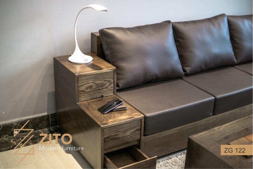 Bàn ghế Sofa văng gỗ ZG 122 hiện đại tại hà nội