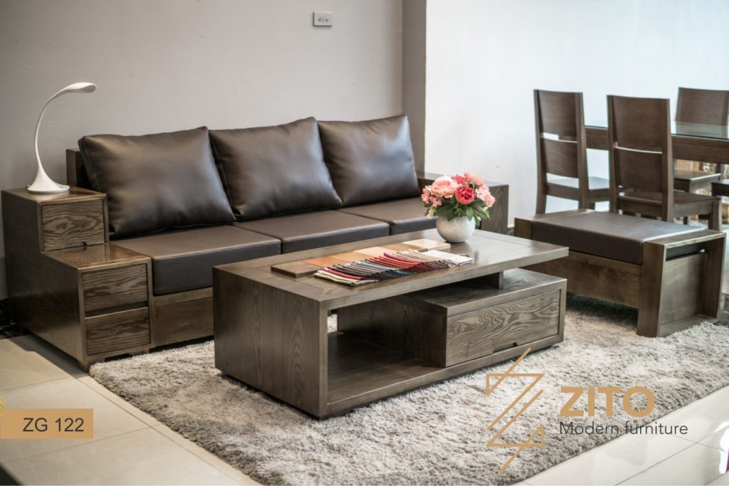 Sofa văng gỗ ZG 122 hiện đại