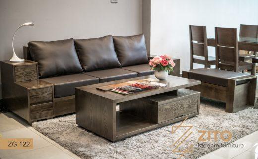 sofa văng màu óc chó ZG122