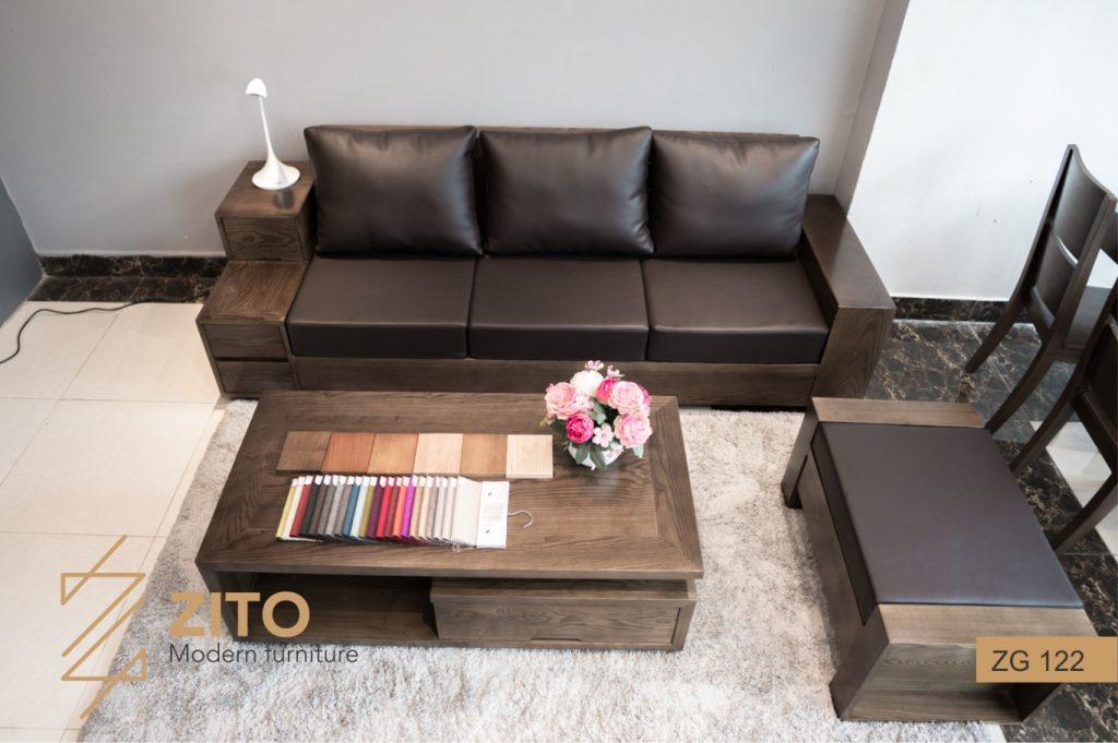 Bàn ghế Sofa văng gỗ ZG 122 ZITO