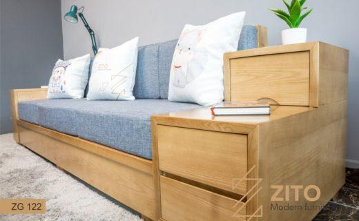 sofa văng gỗ dài