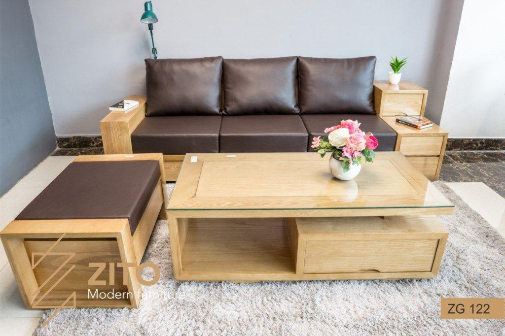 sofa văng gỗ, sofa văng gỗ tự nhiên