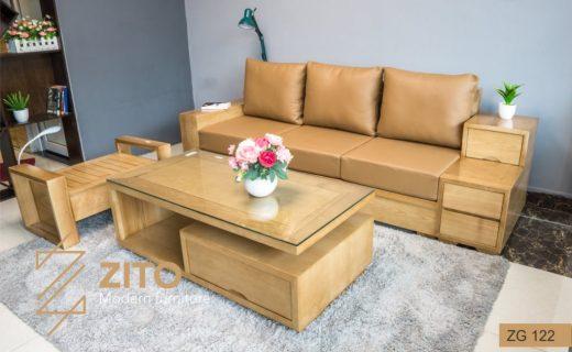 sofa giường đi văng gỗ cao cấp