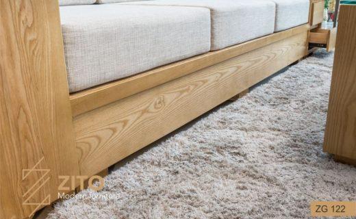sofa văng gỗ cổ điển