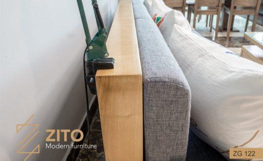 ghế sofa văng gỗ dài