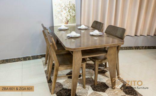 Bộ bàn ăn ZITO 601 được làm từ gỗ sồi cao cấp