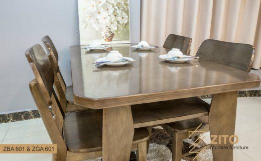 Thiết kế bàn ăn cơm gỗ ZITO 601 có hộc tiện dụng