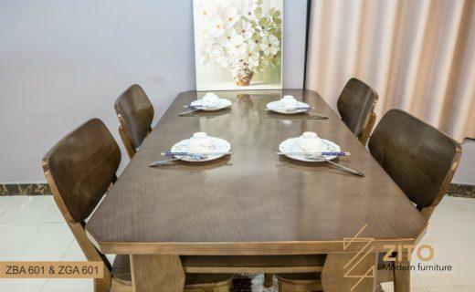 Bộ bàn ăn gỗ ZITO 601