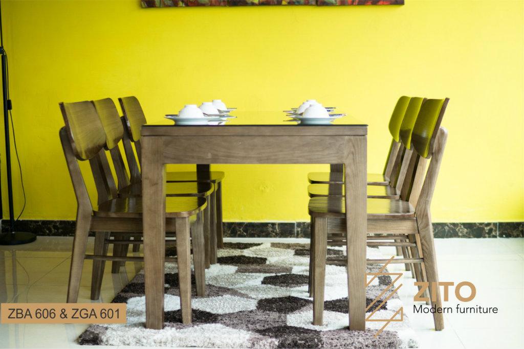 bàn ghế ăn gỗ óc chó