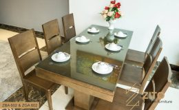 bộ bàn ăn gỗ 6 chỗ ngồi
