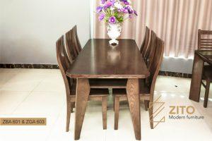 Bộ bàn ghế ăn ZBA 601 & ZGA 603