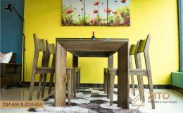Bộ bàn ghế ăn gia đình ZBA 604 & ZGA 604 ZITO
