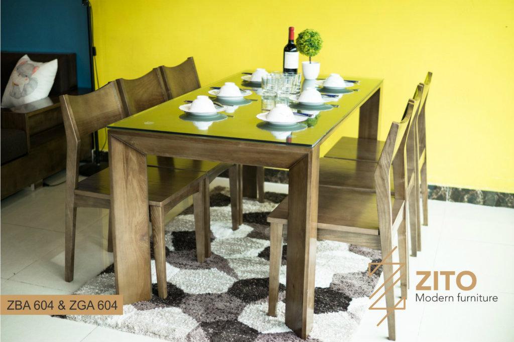 bộ bàn ăn 6 ghế ZBA 604 & ZGA 604