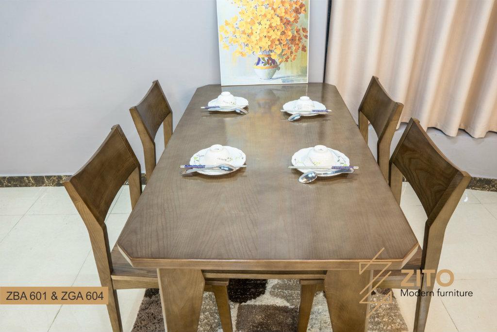 Mẫu bộ bàn ăn 4 ghế ZBA 601 & ZGA 604 đẹp và hiện đại