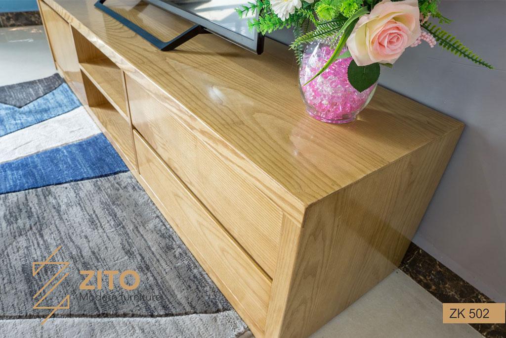 Chất liệu kệ để tivi bằng gỗ hiện đại đẹp bền theo thời gian