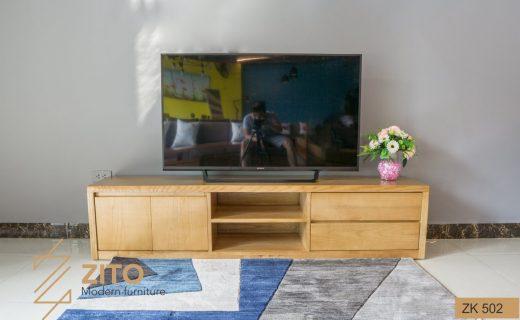 Kệ để tivi bằng gỗ dành cho phòng khách đẹp và hiện đại