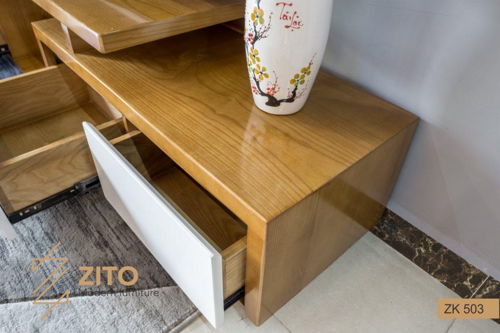Chất liệu mẫu kệ tivi đẹp bằng gỗ Sồi tự nhiên chất lượng tốt