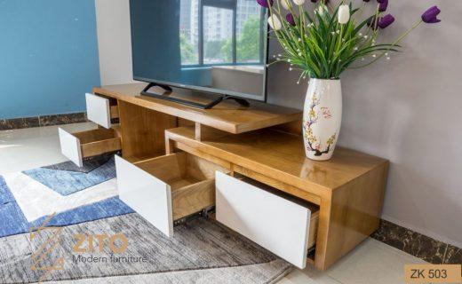 Thiết kế mẫu kệ tivi đẹp cho phòng khách và phòng ngủ có nhiều ngăn kéo và hộc tiện dụng