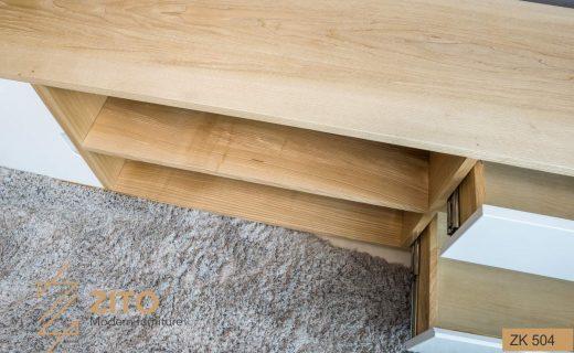 Chất liệu kệ gỗ để tivi hiện đại bằng gỗ Sồi bền và chắc chắn