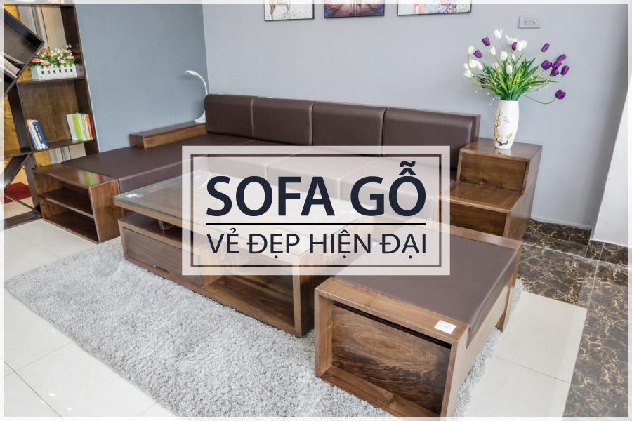 ZITO bàn ghế sofa gỗ hiện đại