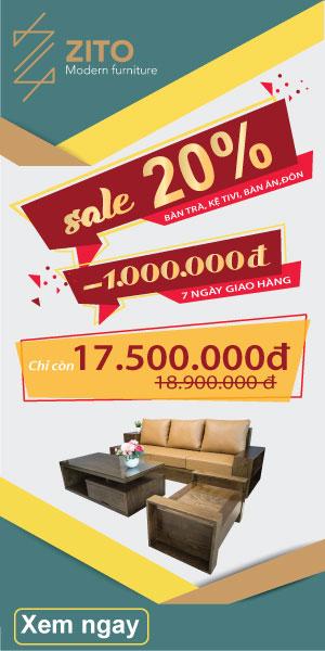 khuyến mãi tháng 5 nội thất zito dành cho khách hàng mua bàn ghế sofa gỗ