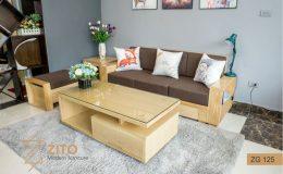Bộ sofa văng gỗ - một trong những món đồ nội thất gia đình lý tưởng dành cho phòng khách