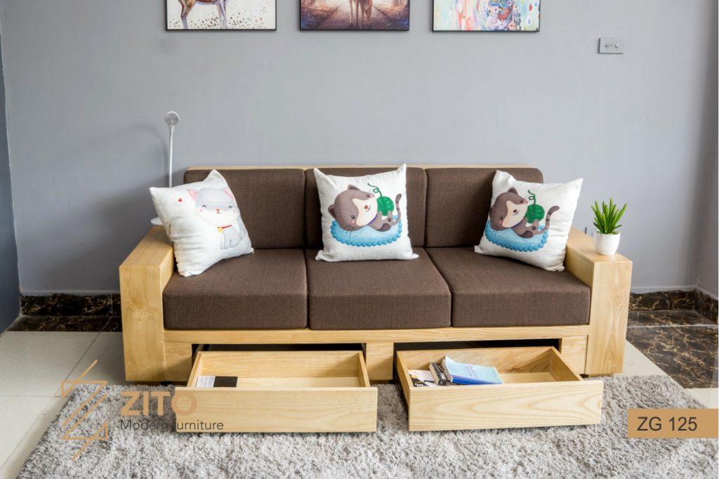 Sofa văng gỗ đẹp hiện đại ZITO ZG 125