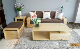 Bộ bàn ghế sofa văng gỗ đẹp ZITO ZG 125