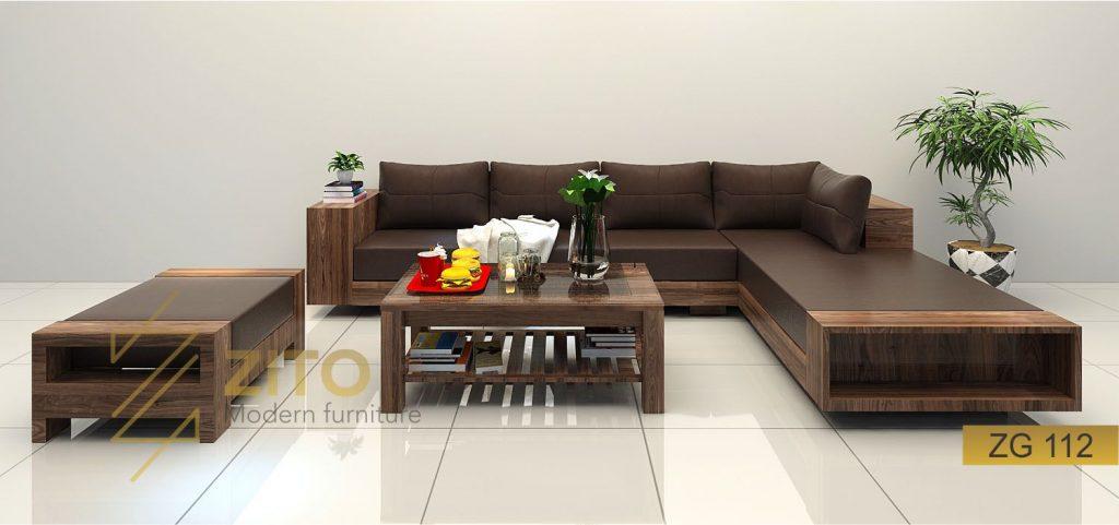 Sofa gỗ hình chữ L ZITO ZG 112