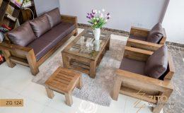 Thiết kế sofa gỗ ZITO chữ U tinh tế và tỉ mỉ