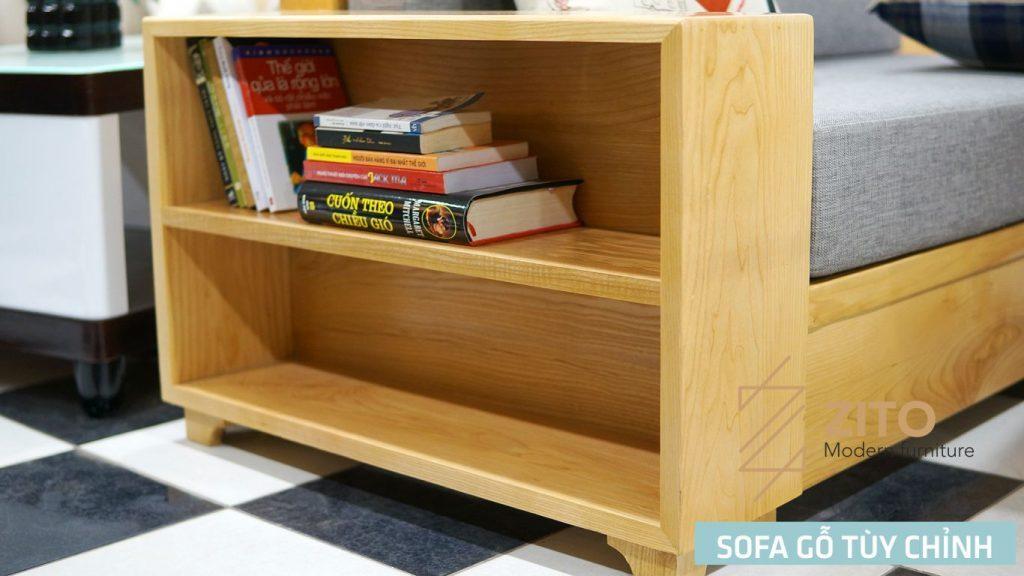 sofa văng gỗ tùy chỉnh kích thước