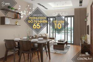 Thiết kế nội thất căn hộ An Bình City đồ rời phòng khách và phòng ăn