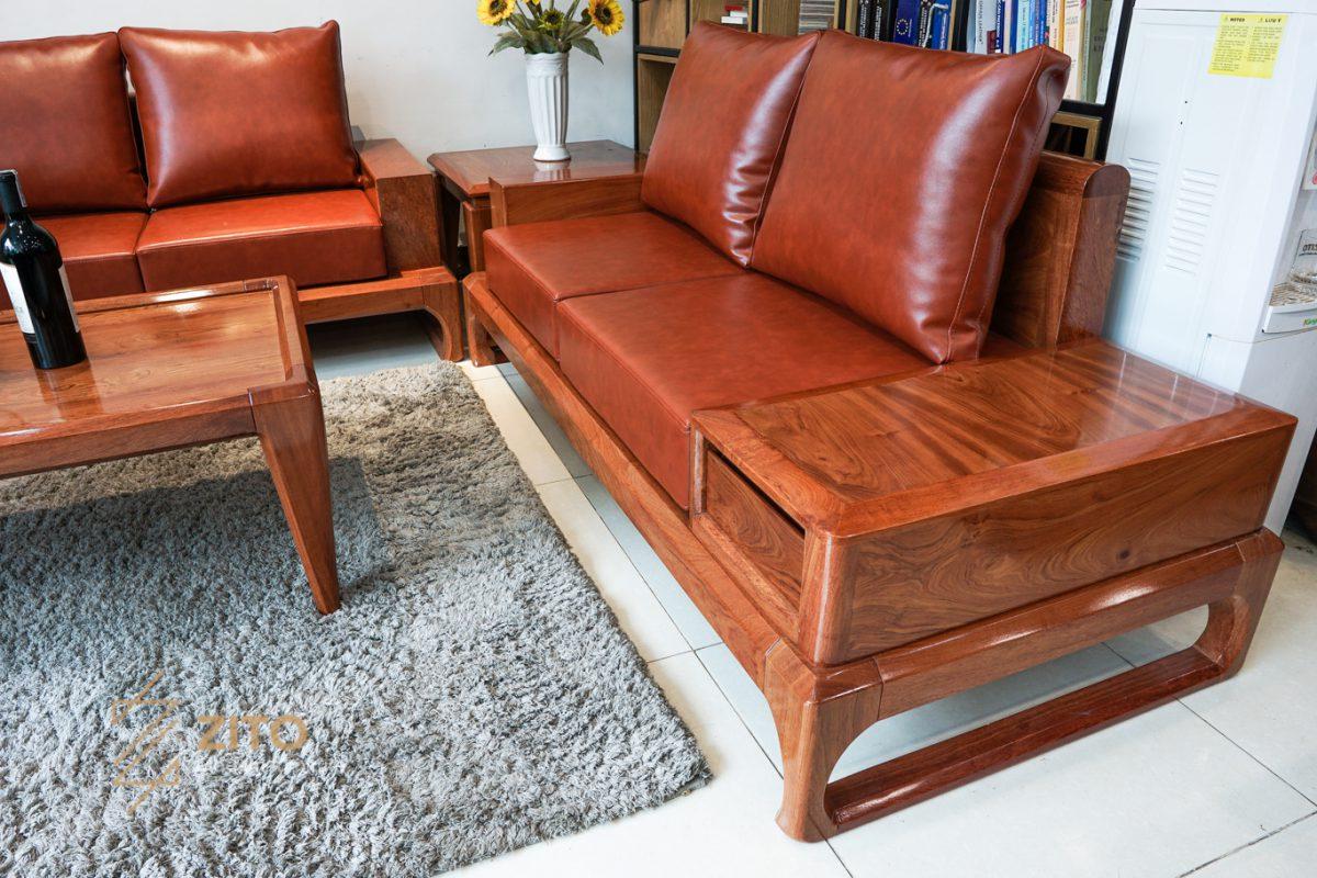 Sofa sử dụng đệm da Microfiber