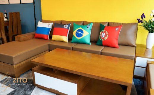 Gối ôm worldcup dành cho sofa phòng khách đẹp