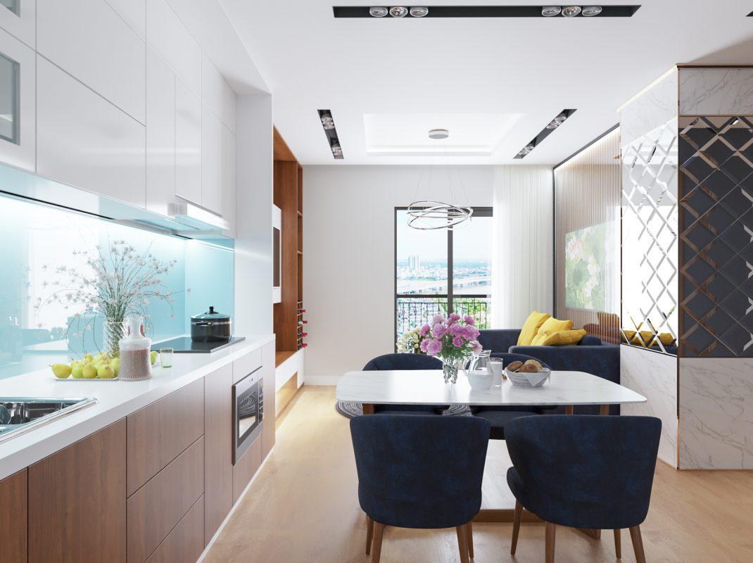 Những món đồ nội thất phòng ăn chung cư HD Moon City giản đơn, hiện đại