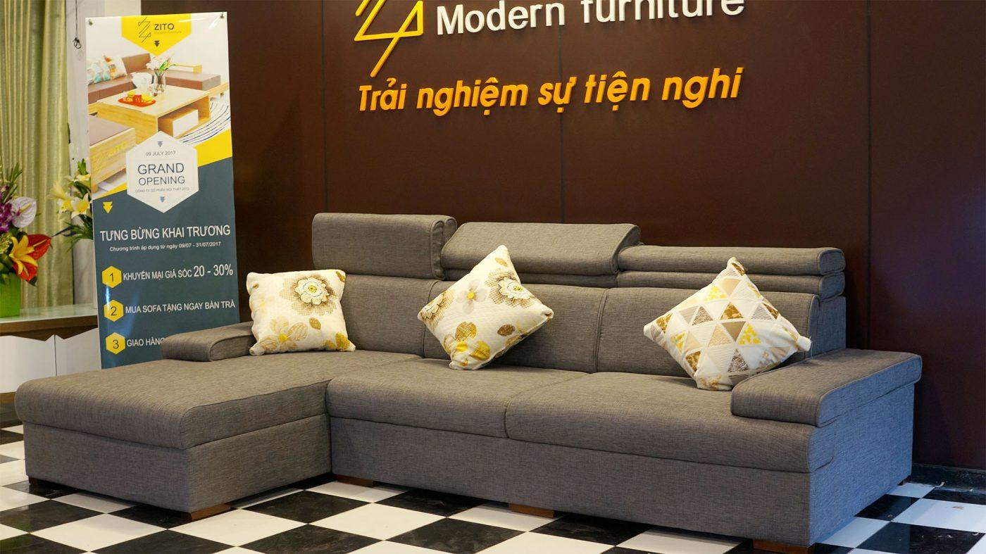 Sofa Nỉ ZN 406 với phong cách trẻ trung hiện đại