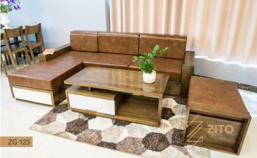 Chất liệu bộ bàn ghế sofa gỗ nhỏ