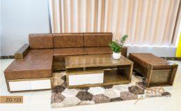 Sofa gỗ nhỏ chữ L ZITO ZG 123