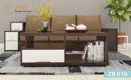 Mẫu bàn trà gỗ ZB 010 phòng khách