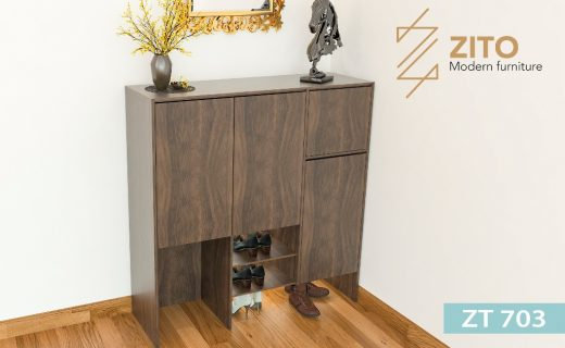 Tủ giầy hiện đại bằng gỗ sồi tự nhiên