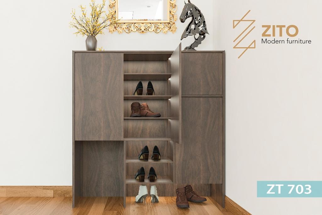 Thiết kế tủ giầy gỗ sồi thông minh